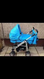 Blue baby style luxe pram
