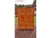 Solid Pine Chest of Drawers, 4 Drawers