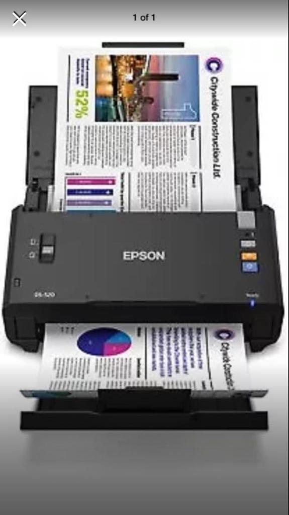 Epson Workforce Ds 520 Colour Printer Scanner