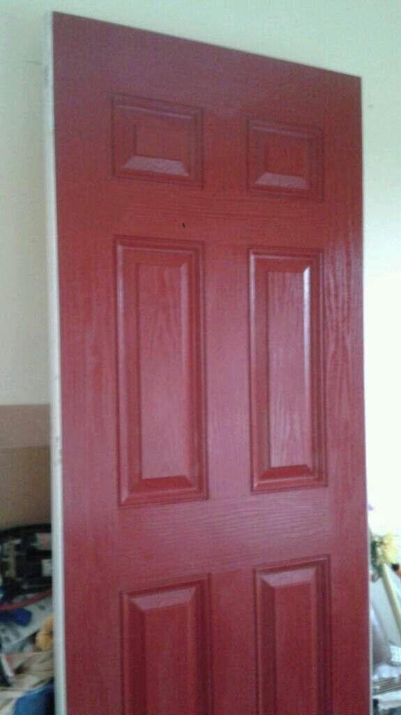Pvc Faced Composite Exterior Door 80x30 Hang Trim Like Wooden