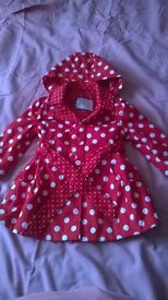 SWEET MILLIE RED/WHITE SPOTTY COAT