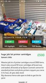 Printer and toner cartridges all new and upto date