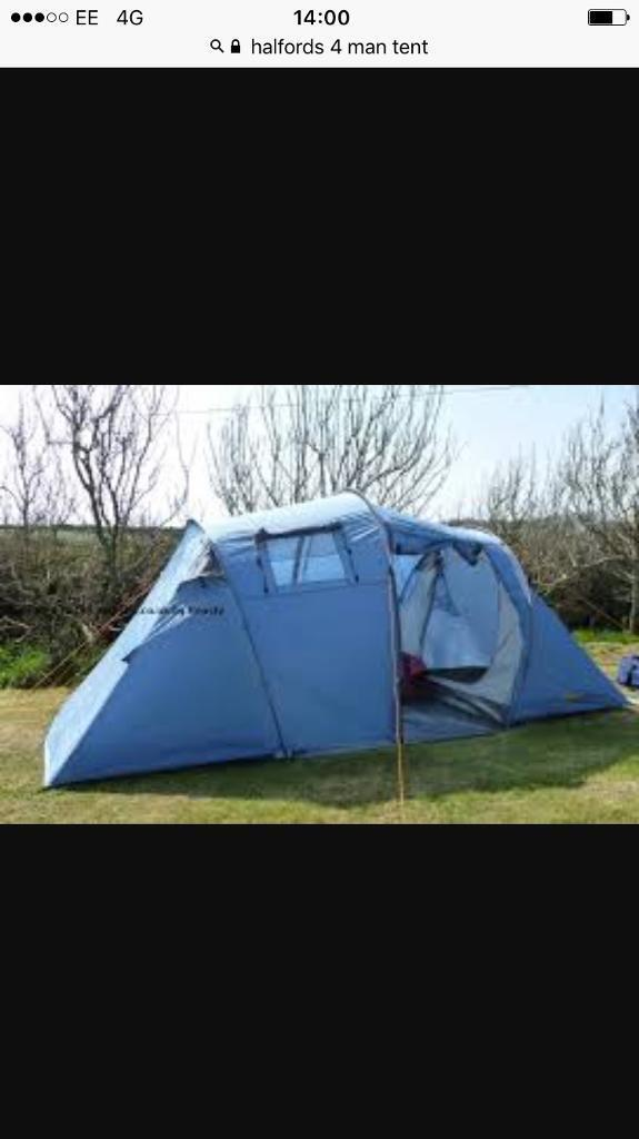 4 man camping tent and equipment