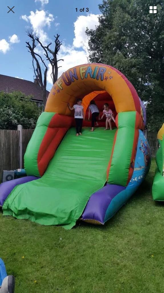 Bouncy castle/ bouncy up and over slide