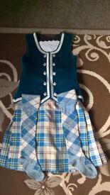 Teal highland dancing kilt outfit