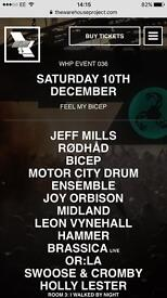 Warehouse project - Feel My Bicep, 10th Dec x1 ticket