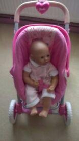 baby Annabelle and pram