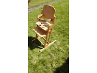 BabyDan wooden high chair / highchair
