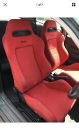 Honda Civic Ek9 Integra DC2 Type R Recaro Bucket seats rails ej em eg