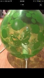 Pair of lime green lamps