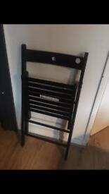 Fold up chair black