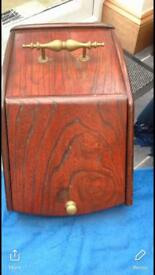 Mahogany coal scuttle old