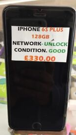 IPHONE 6S PLUS 128GB UNLOCKED CONDITION GOOD