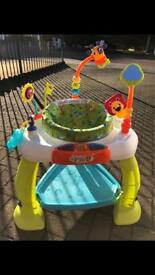 Baby activity station bouncer