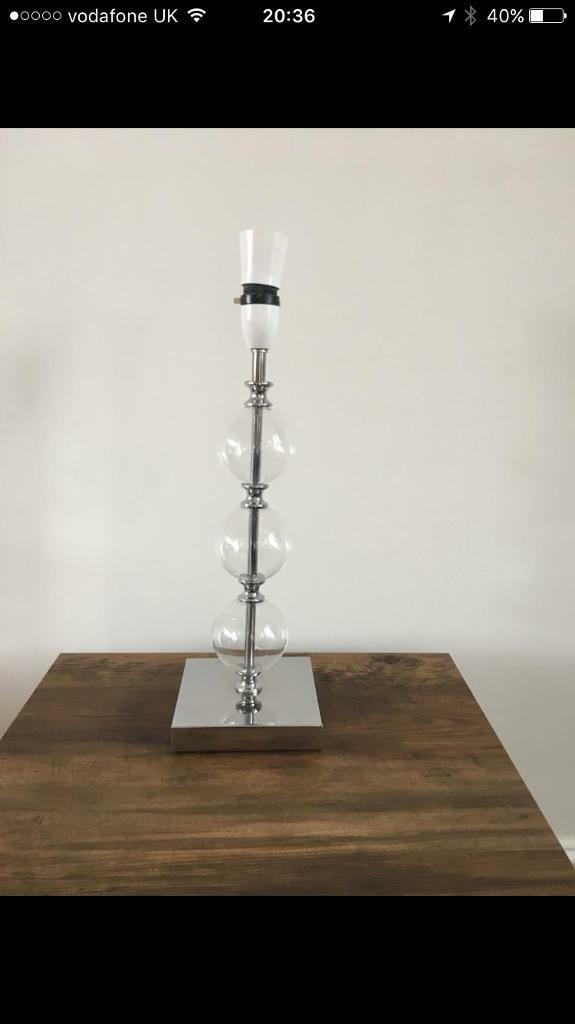 Glass bauble table lamp stand contemporary stand WORKINGTON CUMBRIA