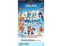 2 x Tickets Disney on ice 100 years Wembley Thursday 30th march 6:30pm