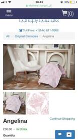 Carseat Canopy Couture Car Seat Cover in Angelina Pink Damask