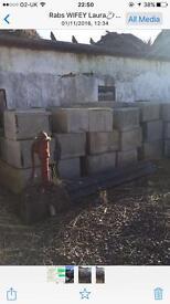 Large granite blocks
