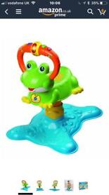 V tech baby bounce and play frog with sounds and lights fab condition