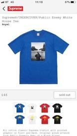 Supreme/Undercover/Public Enemy royal blue whitehouse t shirt