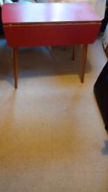 Retro vintage 1950s 1960 Red Formica dining kitchen table