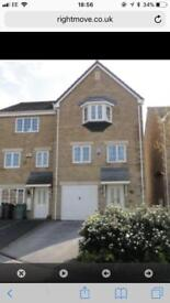 4 bed 3 storey end town house
