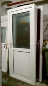 upvc door with frame 35 inches wide x 81 inches high in good condition call 07498143887