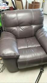 Purple Reclining Electric Chair