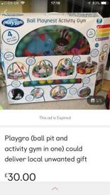 Activity gym only used once still boxed