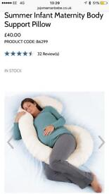Maternity and infant support pillow