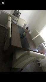 6 seater table & chairs
