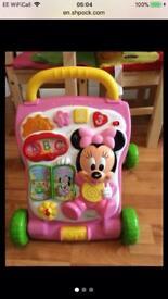 Minnie Mouse push along Walker Excellent Condition