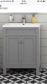 600mm bathroom vanity unit free standing