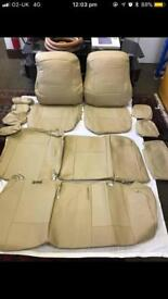 PVC LEATHER SEAT COVERS FOR TOYOTA PRIUS 2005-15 in cream