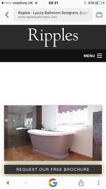 Ripples brand new 1700 shower screen