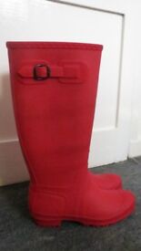 New red rubber boots size 5/38
