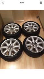 "Bmw Mini Cooper S 17"" crown Alloy Wheels & tyres"