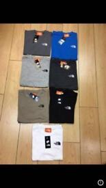Boys NorthFace, Adidas, Armani tee shirts for sale