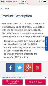 Silver Cross 3D Car Seat Isofix Base