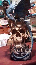 Vintage skull and dragon lights up