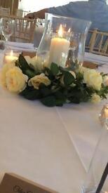Wedding hurricane vases x10