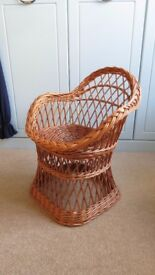 Wicker chair for child