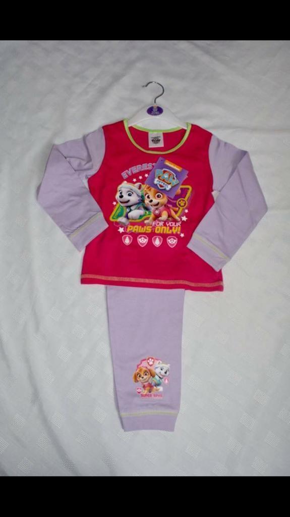 Paw patrol pyjamas sizes 18-24,3-4&4-5 new!