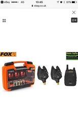 Fox micron Mr+ 2bite alarm set and receiver