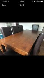 Reduced - dining table & 8 chairs