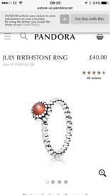 July birthstone ring size n