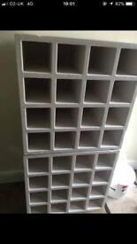 White Solid Wood Wine Racks (2)