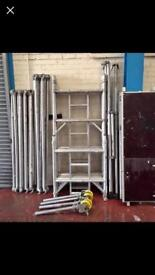 6.2m Working Height Boss Youngman Aluminium Scaffold Tower Fully Complete