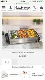 Daewoo large electric buffet server brand new.