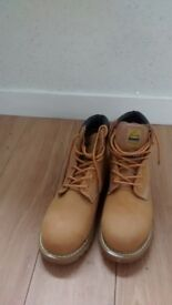 Tan Work Boots size 8